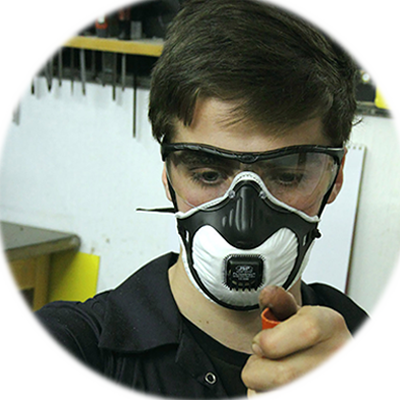 Icon of safety goggles