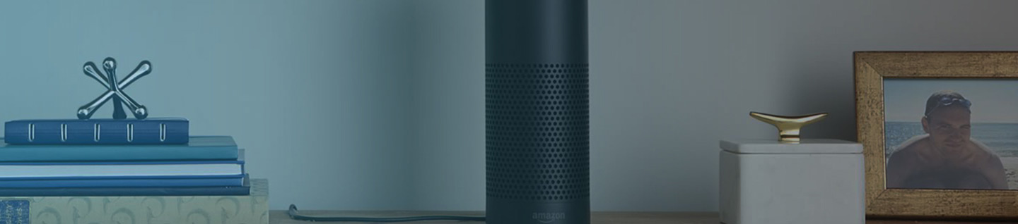 Image of the Amazon Alexa UK on a unit