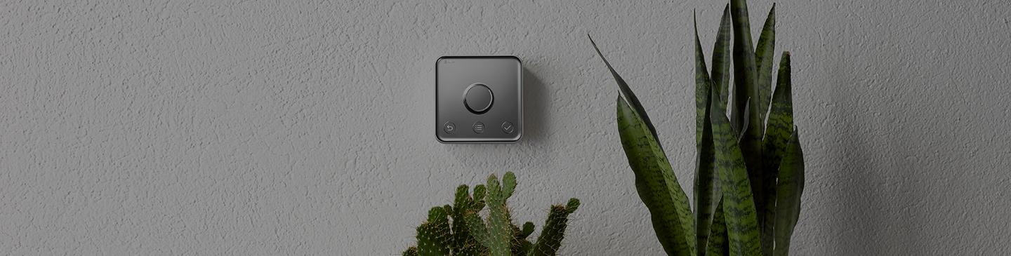 Hive active heating smart therostat on wall
