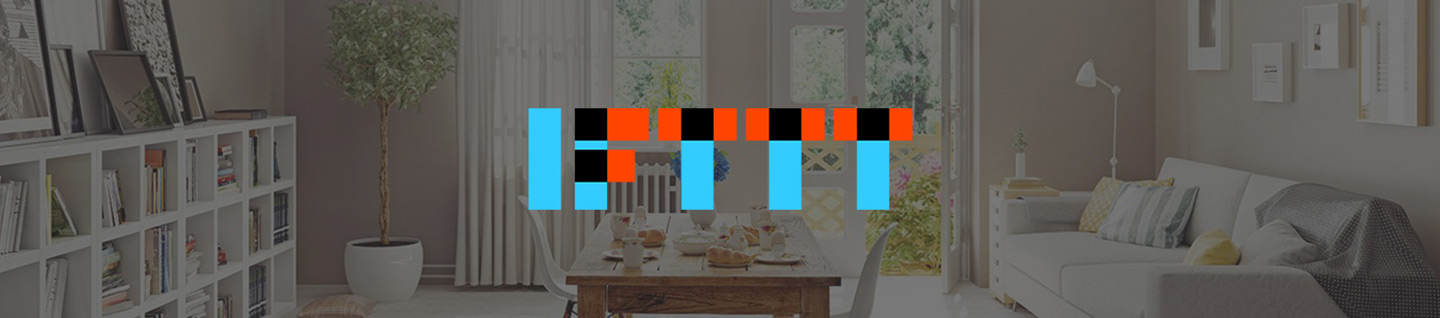 IFTTT Brand Logo on a Smart Home