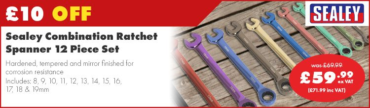 Sealey Ratchet Spanner Set