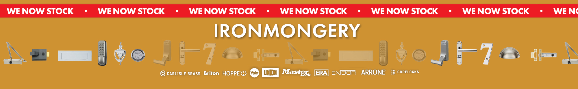 We Now Stock Ironmongery